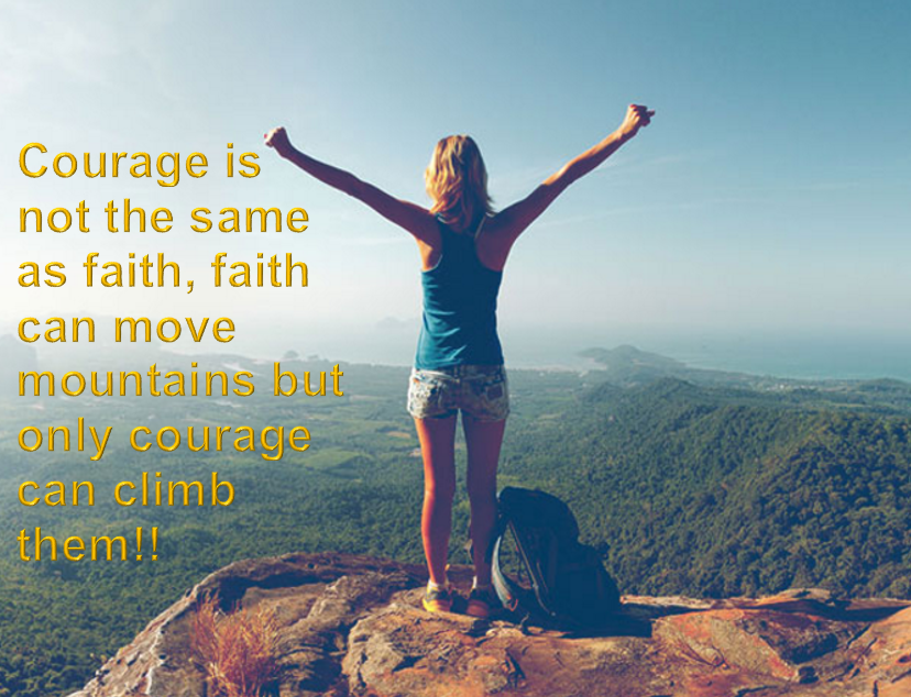 Faith v/Courage